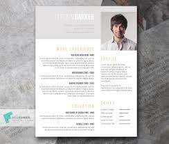 Indesign Template Resume Cv Format Word Doc Modern Graphic