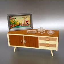 modern doll house furniture. Vtg 7pc Crailsheimer Mid Century Modern Dollhouse Credenza Furniture Doll House /