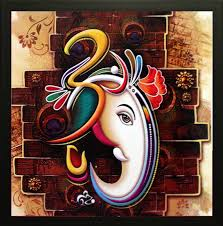 saf ganesh ji canvas painting in india saf ganesh ji canvas painting at flipkart com