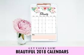 Free Beautiful Printable Calendar For 2018!
