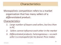 monopolistic competition vs perfect competition essay term paper  monopolistic competition vs perfect competition essay