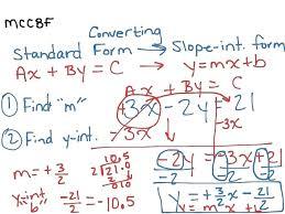 standard form to slope intercept calculator math convert from vertex form to standard form math converting