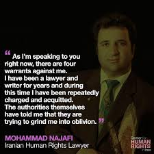 Image result for lawyer mohammad najafi