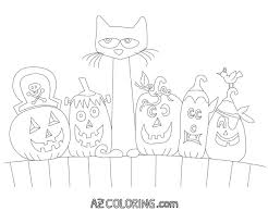 Small Picture Pete The Cat Halloween Printable Coloring Page Coloring Home