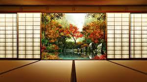 Japanese Living Room Bright Lighting Above Drawer Vanity Beside Wall Japanese Style