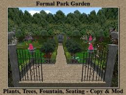 garden in a box. stock clearance sale garden in a box 10 formal park rez sculpted fountain trees flowers hedge copy mod