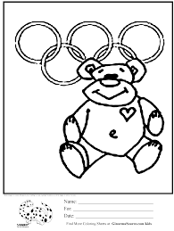 Olympic Teddy Bear Coloring Page