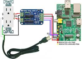 using the raspberry pi to control ac electric power  technotes pi power controller wiring diagram sainsmart