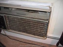 contaminated ac through the wall unit missing air filter