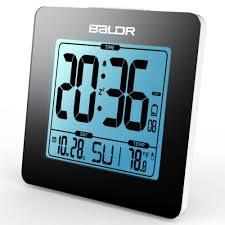 baldr digital alarm clock thermometer lcd backlight calendar indoor temperature meter watch desk snooze timer kids table clock in alarm clocks from home