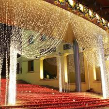 Outside Window Decorations Excelvan 3m X 3m 300 Led Warm White 8 Lighting Modes Curtain Fairy