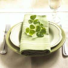 Irish Table Settings Home Decor That Makes It Easy Being Green Ashley Furniture