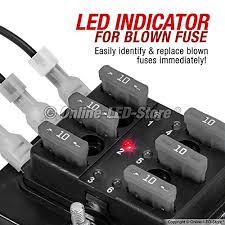 amazon com ols 6 way blade fuse box led indicator for blown fuse amazon com ols 6 way blade fuse box led indicator for blown fuse protection cover 100 amp fuse block for automotive automotive