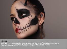 skull makeup tutorial how to image 6