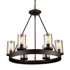 menlo park 6 light chandelier