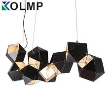 aliexpresscom black gold lampshade cube rustic chandeliers