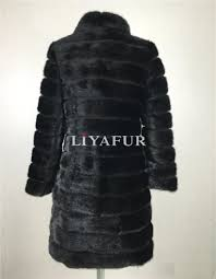 liyafur 2016 real mink fur coat for women natural genuine russian fur coats luxury black color customized size