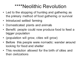 the fall of the r empire in ce ad led to the start of 9 neolithic revolution