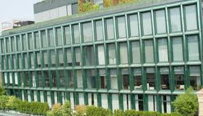 green office building. Sustainability Efforts Are Increasingly Common In The Commercial Real Estate Industry, With Property Owners And Managers - Along Their Tenants Green Office Building