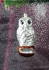 Eule Auf Buch Ca 14cm Hoch Christbaumschmuck Aus Glas Mundgeblasen Und Handbemalt