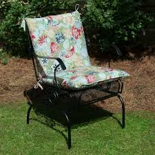 plantation patterns hampton bay jean fl mid back outdoor chair cushion available at the home depot