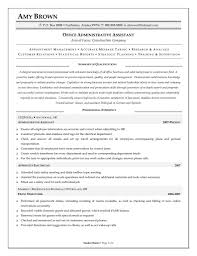 Sample Resume For Office Manager Itemplated Admin Modern