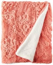 amazoncom boon embroidery batik sherpa throw blanket  x