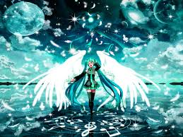 vocaloid wallpaper led angel miku