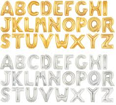 Mylar Balloon Letters Gold Silver 1