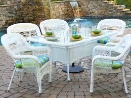 White Wicker Patio Furniture Chair Dining