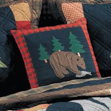 Rustic Bedding: Timberline Quilt Bedding Collection|Black Forest Decor & Timberline Bear Quilted Pillow Adamdwight.com
