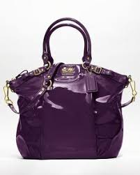 COACH Madison Patent Lindsey Satchel Handbags - Bloomingdale s