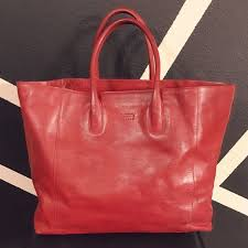 claudia firenze handbags claudia firenze large red leather tote bag purse