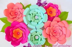 diy easy large paper flowers flower templates patterns backdrop flowers giant paper flowers