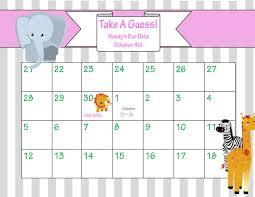 Printable Due Date Calendar Printable Due Date Calendar Baby Shower