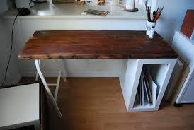 Counter Top Desks Reclaimed Wood Desk Ikea Hackers Ikea Hackers