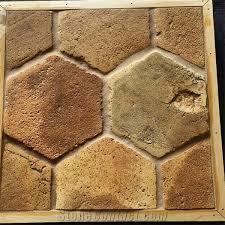 antique hexagon terracotta tiles