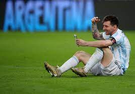 Messi played Copa America final with ...