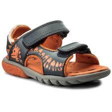 sandals clarks rocco surf 261316787 navy combi leather sandals clogs and sandals boy kids shoes efootwear eu