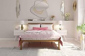 Amazon.com: Signature Sleep Modern Metal Platform Bed Frame with ...