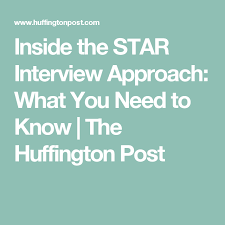 Star Approach Interview Inside The Star Interview Approach What You Need To Know