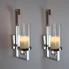 Contemporary Wall Candle Sconces cool glass wall sconce candle holder  holders metal hanging home designing inspiration
