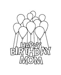 Happy Birthday Color Pages Printable Happy Birthday Coloring Pages
