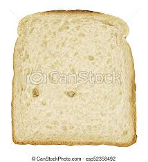 Bread Slice Single Toast Close Up Isolated On White 3d Rendering
