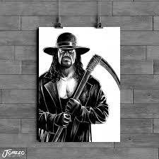 The butcher, the baker, the candlestick maker. The Undertaker Inktober 2019 A4 A3 A2 Art Print Art Of Jomeeo