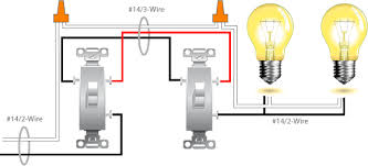 two light two switch wiring diagram One Light Two Switches Wiring Diagrams 3 way switch wiring diagram more than one light electrical online 2 Switches 1 Light