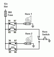 need help electronic air horn install jeep wrangler forum other than the 30 amp fuse this relay wiring diagram layout should work the switch after the horn switch would be the spod switch