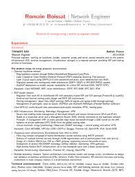 network engineer resume sample resume samples for network engineer