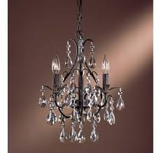crystal antique brass finish curtain dazzling chandelier without lights 8 lovely mini about interior home design