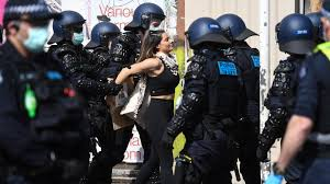 Local time friday (7:59 a.m. Coronavirus Melbourne Police Arrest 74 Anti Lockdown Protesters Bbc News